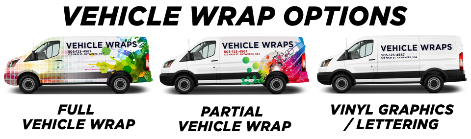Westminster Vehicle Wraps vehicle wrap options
